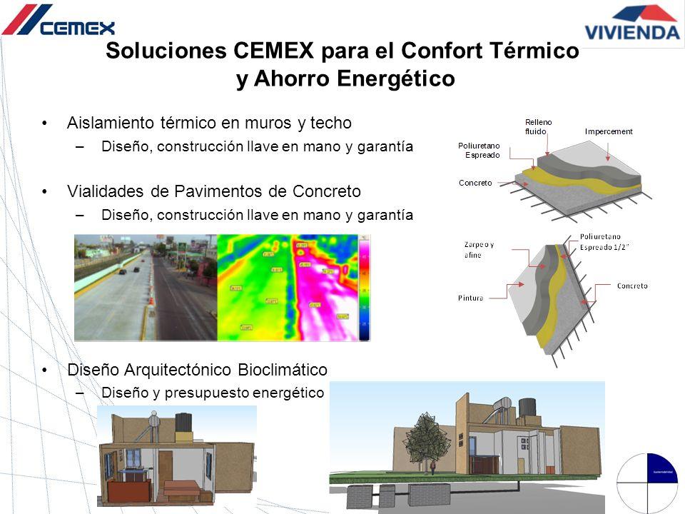 Soluciones CEMEX para el Confort Térmico y Ahorro Energético Aislamiento térmico en muros y techo –Diseño, construcción llave en mano y garantía Viali