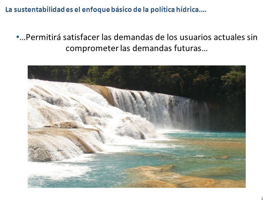 Análisis de alternativas para el uso sustentable de agua en el mediano y largo plazos