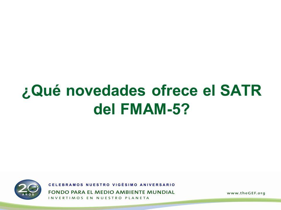 ¿Qué novedades ofrece el SATR del FMAM-5