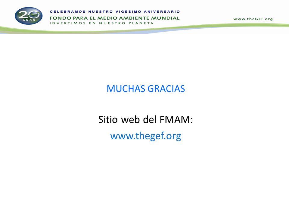 MUCHAS GRACIAS Sitio web del FMAM: www.thegef.org