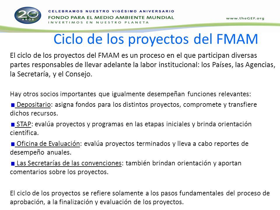 Pago (fee) a las Agencias En el caso de proyectos individuales, se establecerá un pago del 10% basado en el monto que el FMAM asigne al proyecto (donación para el proyecto + PPG).