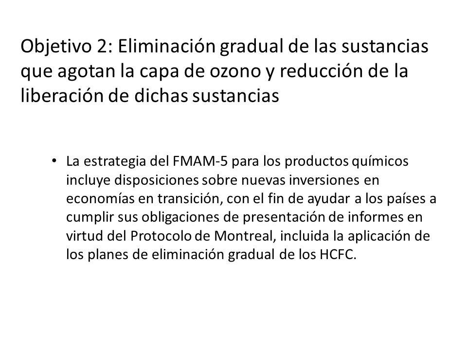 La estrategia del FMAM-5 para los productos químicos incluye disposiciones sobre nuevas inversiones en economías en transición, con el fin de ayudar a