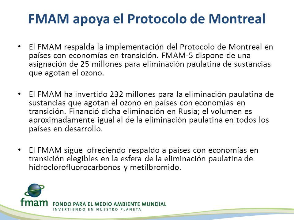FMAM apoya el Protocolo de Montreal El FMAM respalda la implementación del Protocolo de Montreal en países con economías en transición.