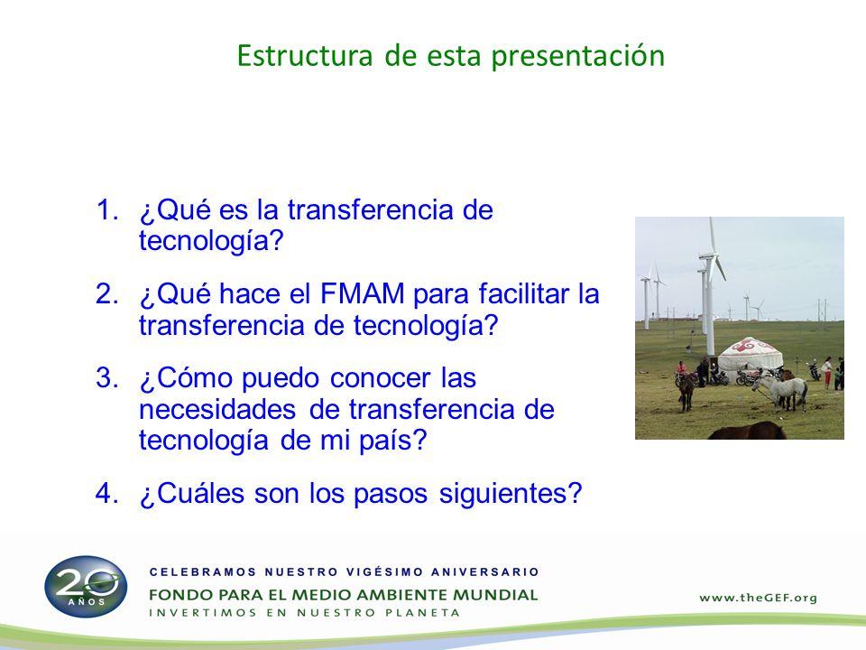 Estructura de esta presentación 1.¿Qué es la transferencia de tecnología.