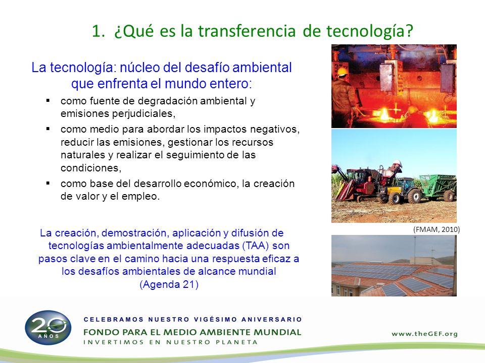 1. ¿Qué es la transferencia de tecnología.