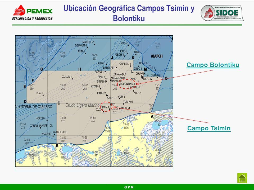 Ubicación Geográfica Campos Tsimin y Bolontiku Campo Tsimin Campo Bolontiku