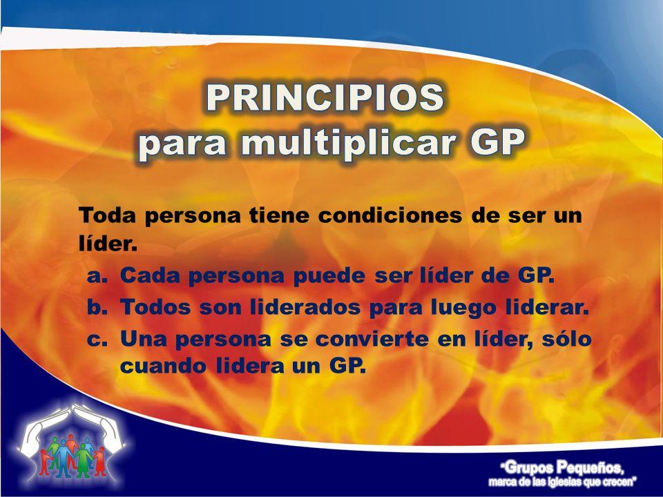 Toda persona tiene condiciones de ser un líder. a.Cada persona puede ser líder de GP.