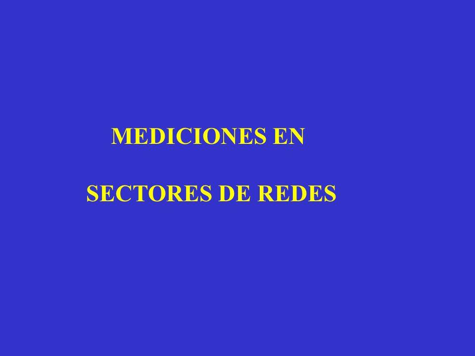 MEDICIONES EN SECTORES DE REDES