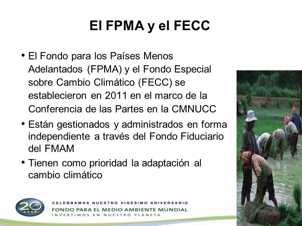 El FPMA y el FECC El Fondo para los Países Menos Adelantados (FPMA) y el Fondo Especial sobre Cambio Climático (FECC) se establecieron en 2011 en el m