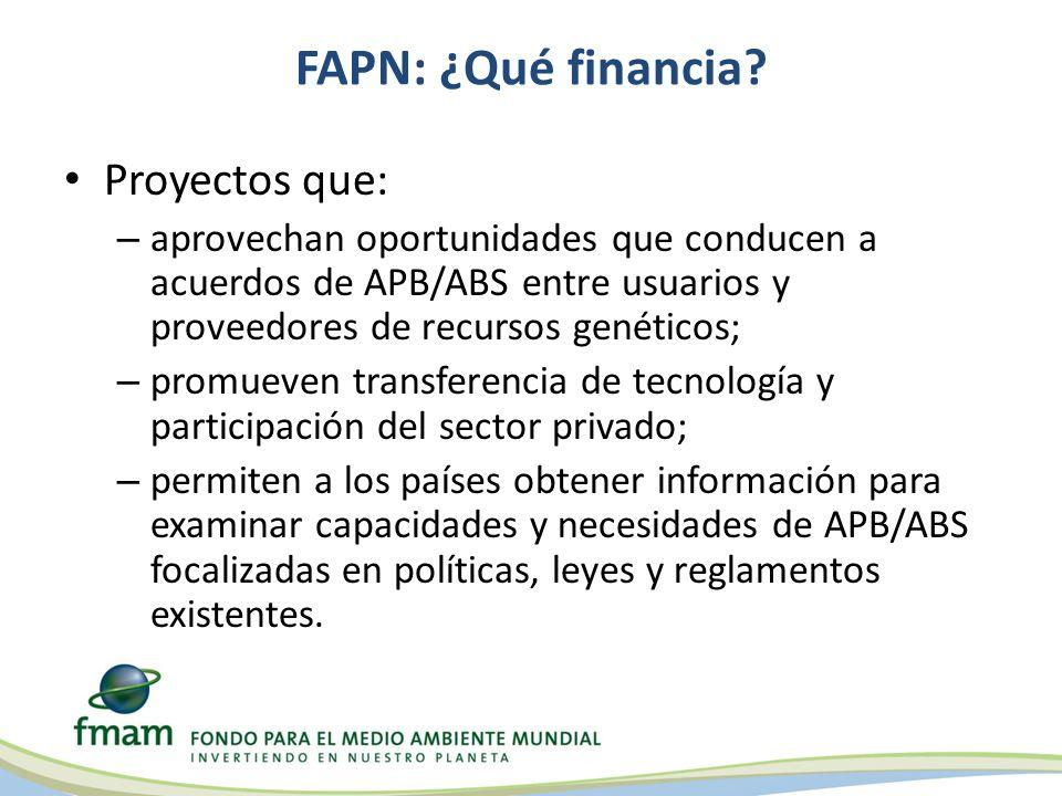 FAPN: ¿Qué financia.