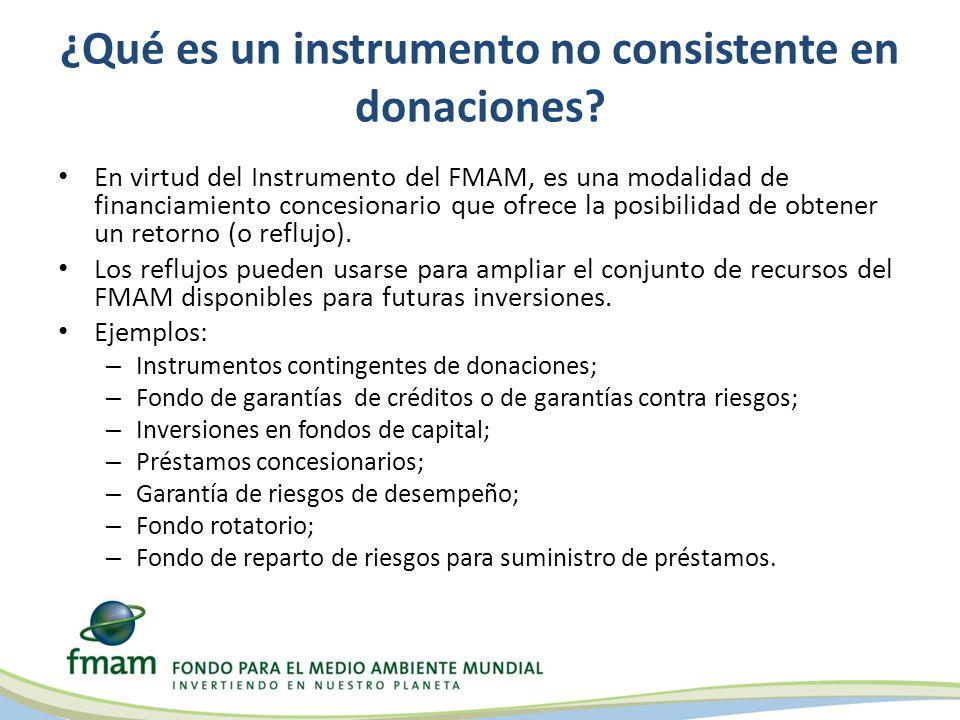 ¿Qué es un instrumento no consistente en donaciones.