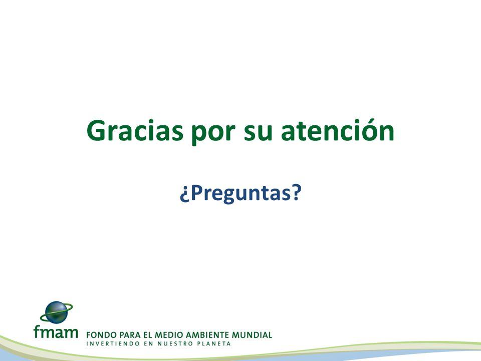 Gracias por su atención ¿Preguntas?