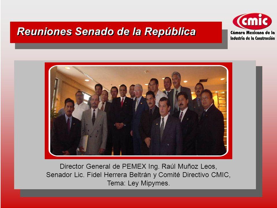 Reuniones Senado de la República Director General de PEMEX Ing.