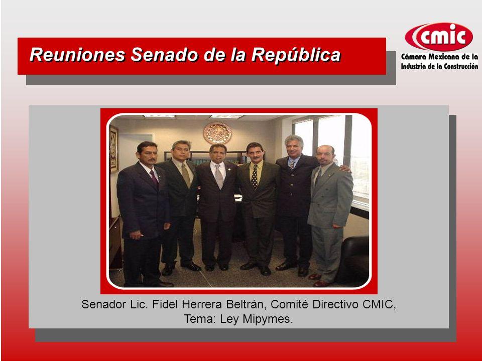 Reuniones Senado de la República Senador Lic.