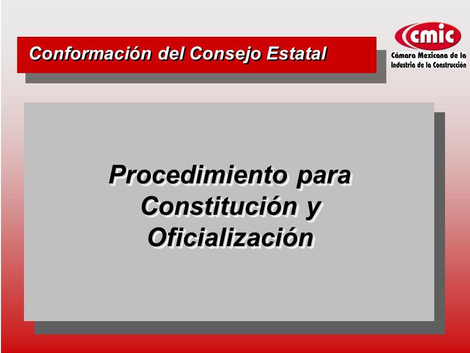 Procedimiento para Constitución y Oficialización Conformación del Consejo Estatal