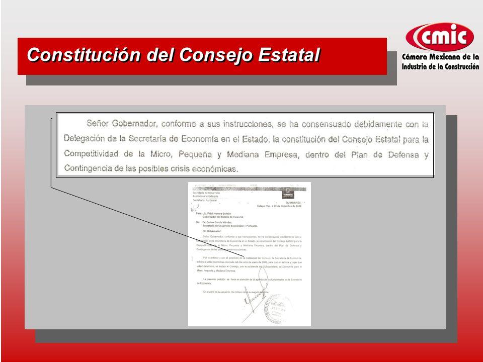 Constitución del Consejo Estatal