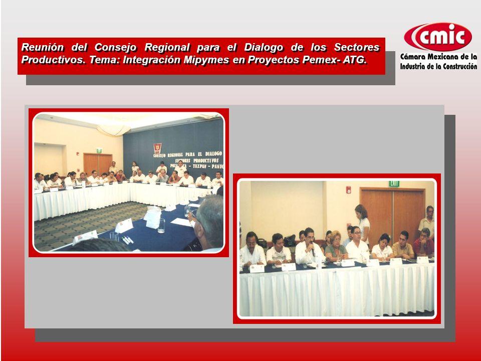 Reunión del Consejo Regional para el Dialogo de los Sectores Productivos.