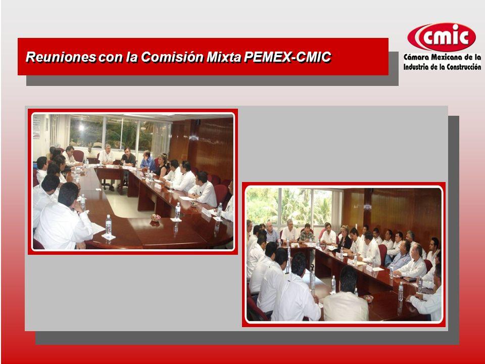 Reuniones con la Comisión Mixta PEMEX-CMIC