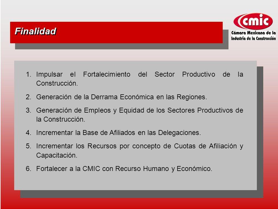 Finalidad 1.Impulsar el Fortalecimiento del Sector Productivo de la Construcción.