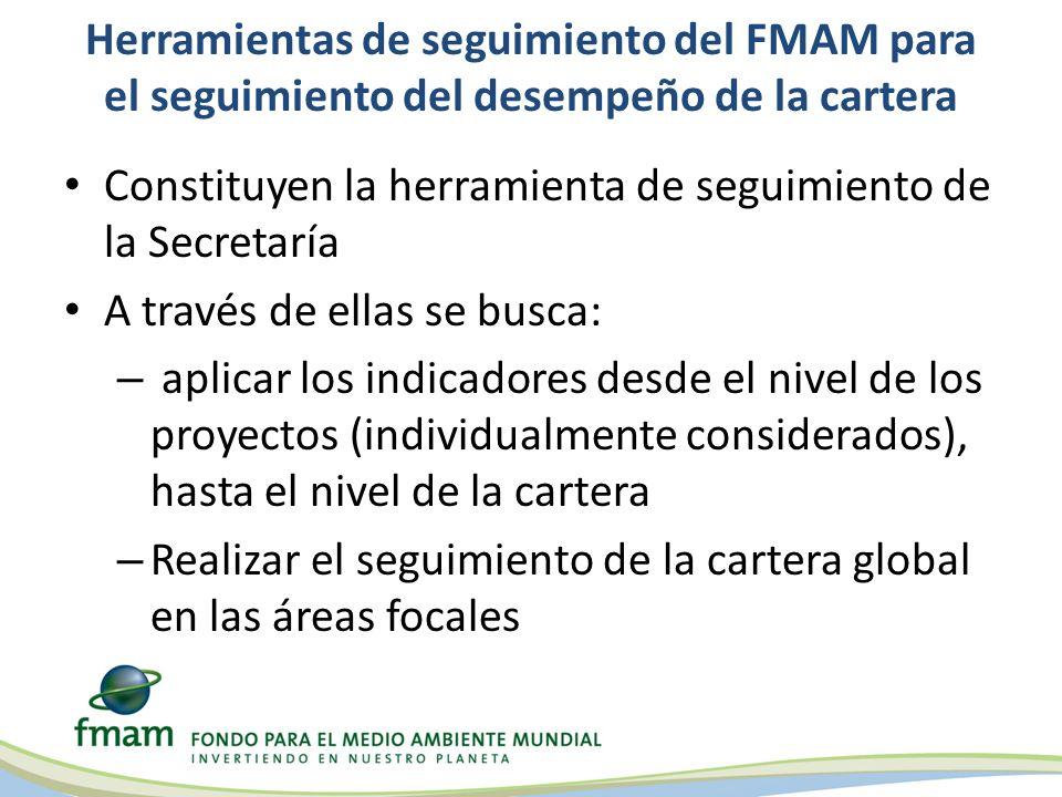 Herramientas de seguimiento del FMAM para el seguimiento del desempeño de la cartera Constituyen la herramienta de seguimiento de la Secretaría A trav