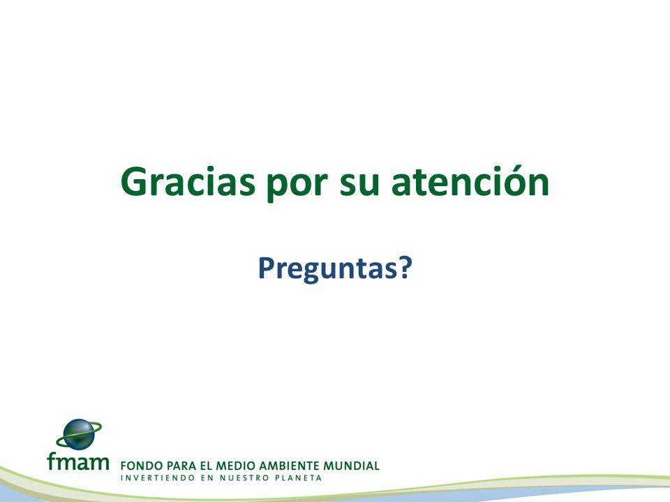 Gracias por su atención Preguntas?
