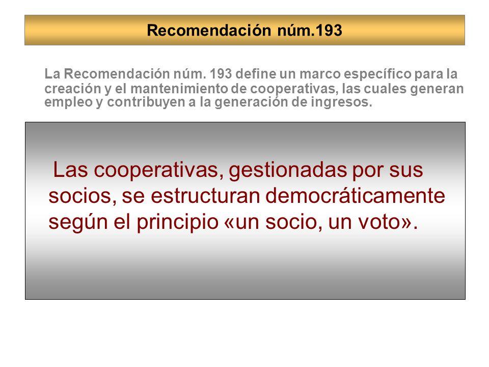 Las cooperativas, gestionadas por sus socios, se estructuran democráticamente según el principio «un socio, un voto». La Comisión destaca la importanc