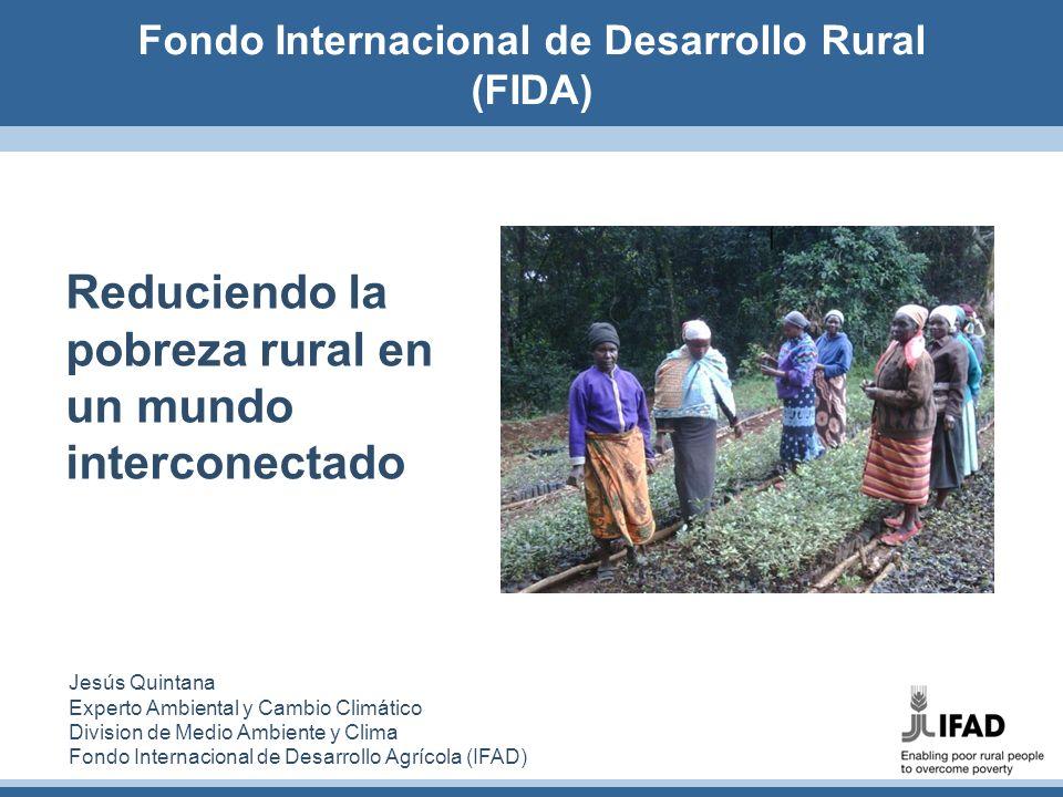Reduciendo la pobreza rural en un mundo interconectado Jesús Quintana Experto Ambiental y Cambio Climático Division de Medio Ambiente y Clima Fondo In