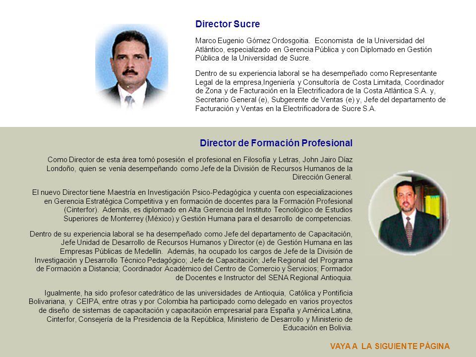 Directora Seccional Caquetá Esther Cerquera García. Administradora de Empresas, egresada de la Universidad Jorge Tadeo Lozano, con especializaciones e