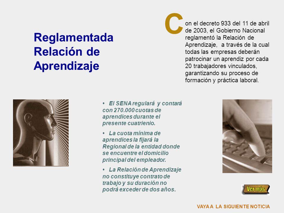 Listo el Fondo Emprender on la firma del Decreto 934 del 11 de abril del presente año, se reglamentó el Fondo Emprender, con el cual se financiarán pr