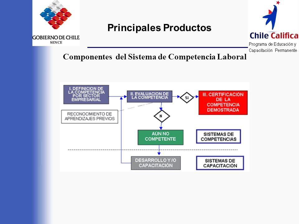 Principales Productos Componentes del Sistema de Competencia Laboral