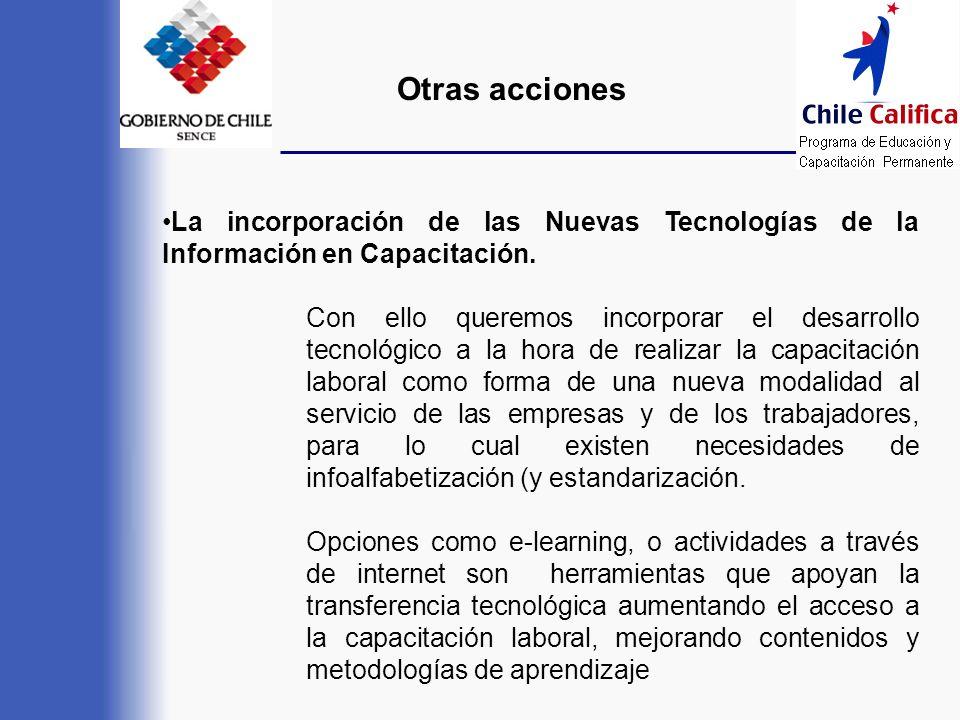 La incorporación de las Nuevas Tecnologías de la Información en Capacitación. Con ello queremos incorporar el desarrollo tecnológico a la hora de real