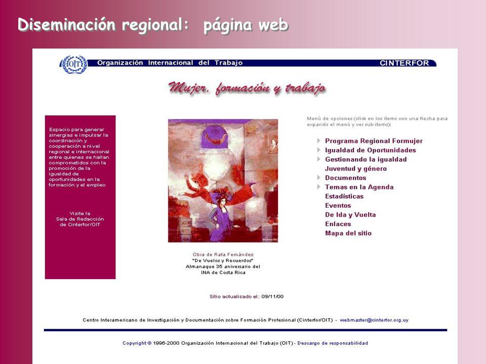 Diseño, estructuración e implementación de una estrategia de comunicación incluye una campaña multimedial sobre igualdad de oportunidades para la mujeres en la formación Campaña de Bolivia disponible en la web Diseminación regional