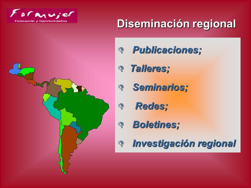 Diseminación regional: página web