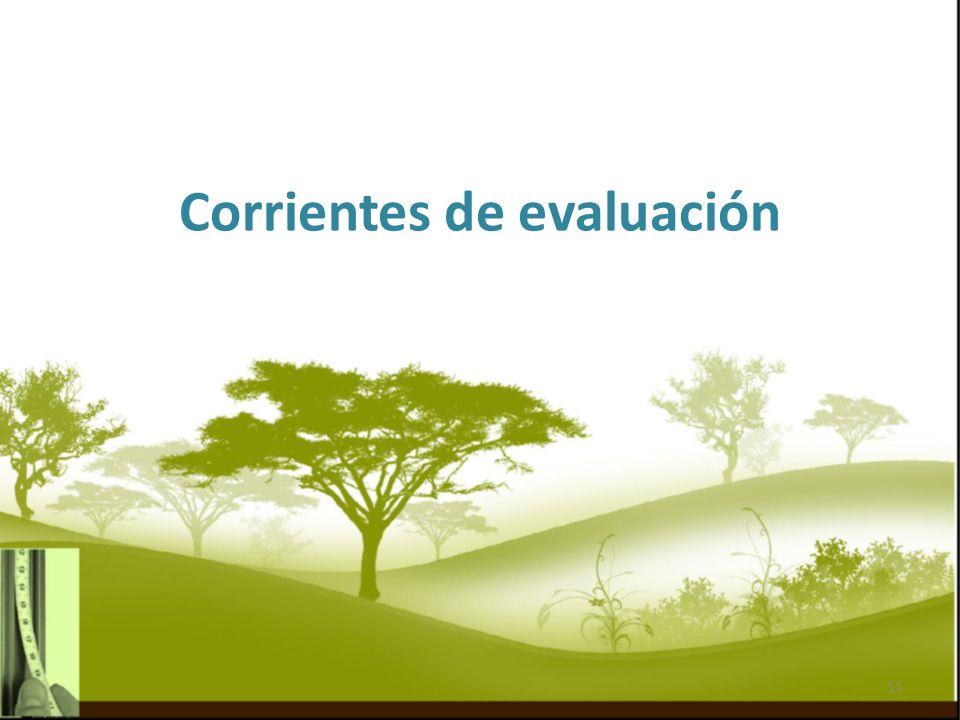 Corrientes de evaluación 11
