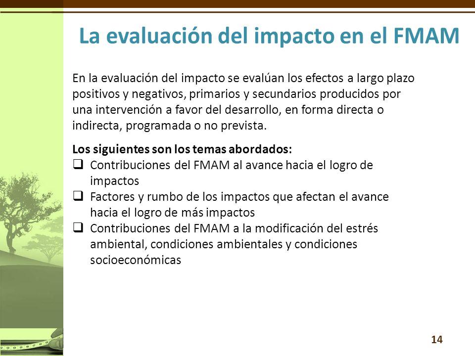 En la evaluación del impacto se evalúan los efectos a largo plazo positivos y negativos, primarios y secundarios producidos por una intervención a favor del desarrollo, en forma directa o indirecta, programada o no prevista.