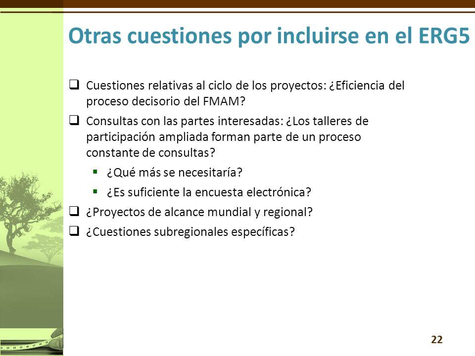 Cuestiones relativas al ciclo de los proyectos: ¿Eficiencia del proceso decisorio del FMAM.