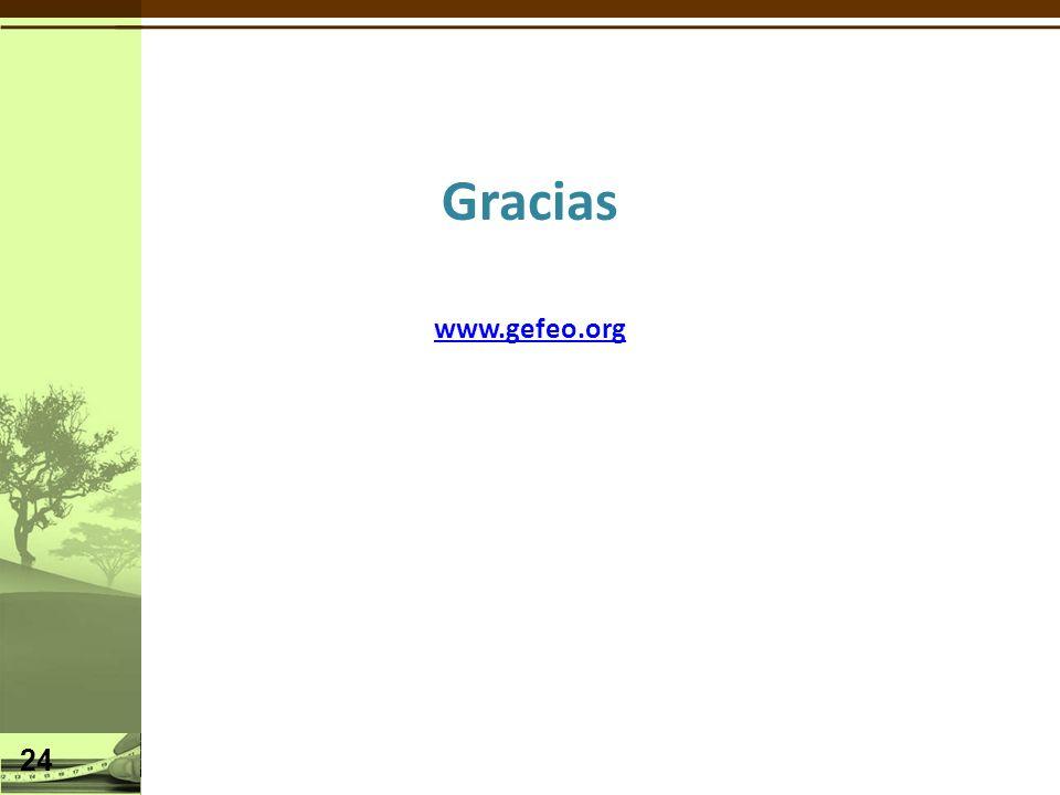 Gracias www.gefeo.org 24