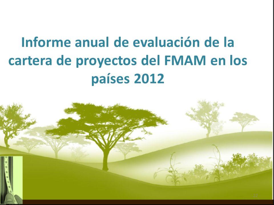 Informe anual de evaluación de la cartera de proyectos del FMAM en los países 2012 22