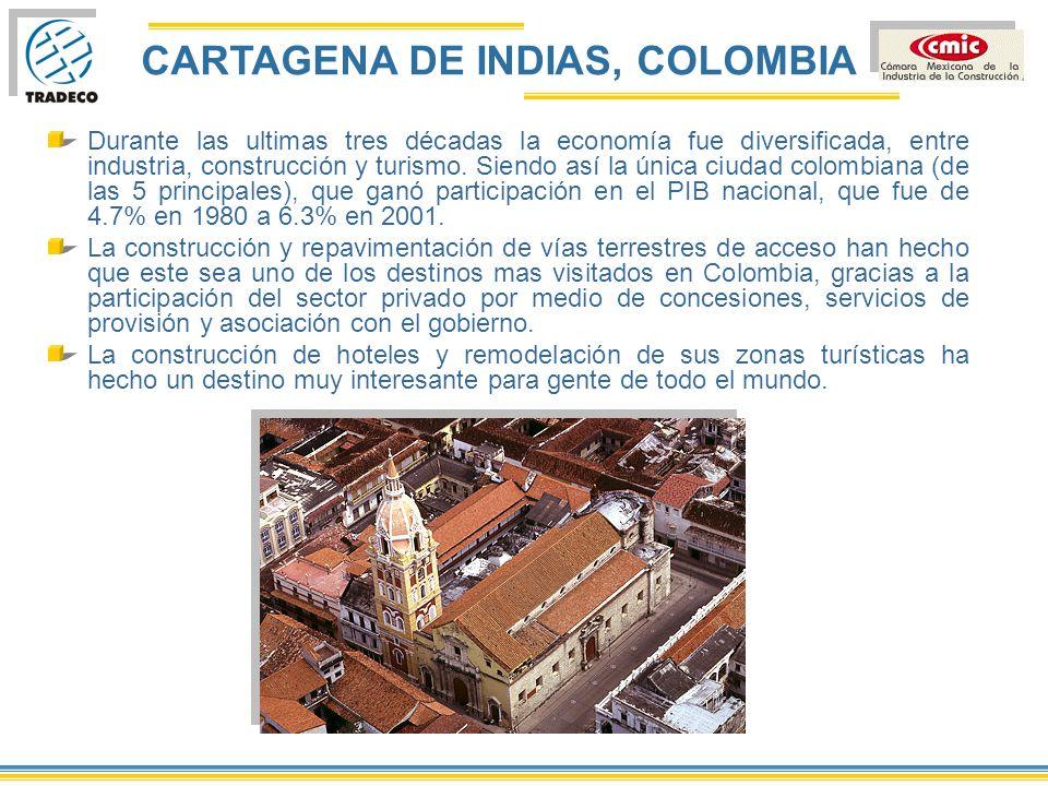 CARTAGENA DE INDIAS, COLOMBIA Como resultado de la apertura y privatización de los puertos, en importaciones y exportaciones, así como en la recepción de turistas, se consolidó como el principal puerto en Colombia, con una participación del 35%.