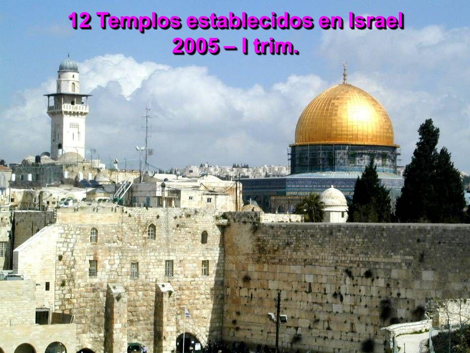 12 Templos establecidos en Israel 2005 – I trim.