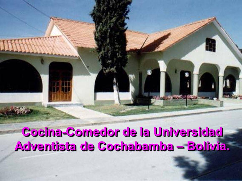 Cocina-Comedor de la Universidad Adventista de Cochabamba – Bolivia.