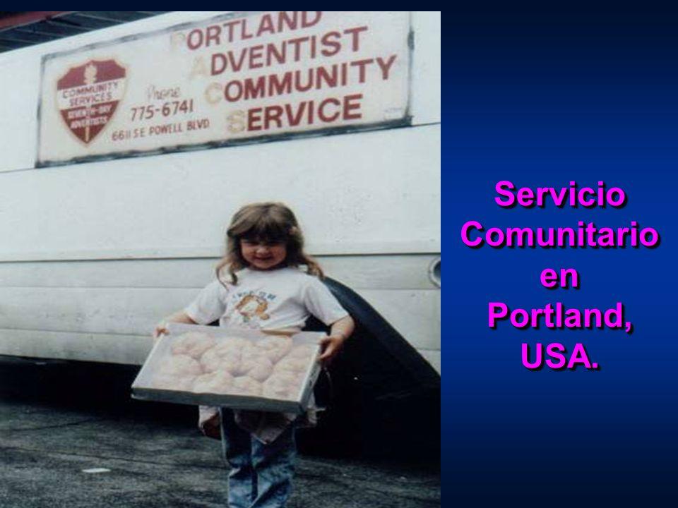 Servicio Comunitario en Portland, USA.