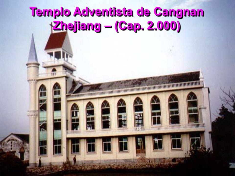 Templo Adventista de Cangnan Zhejiang – (Cap. 2.000)