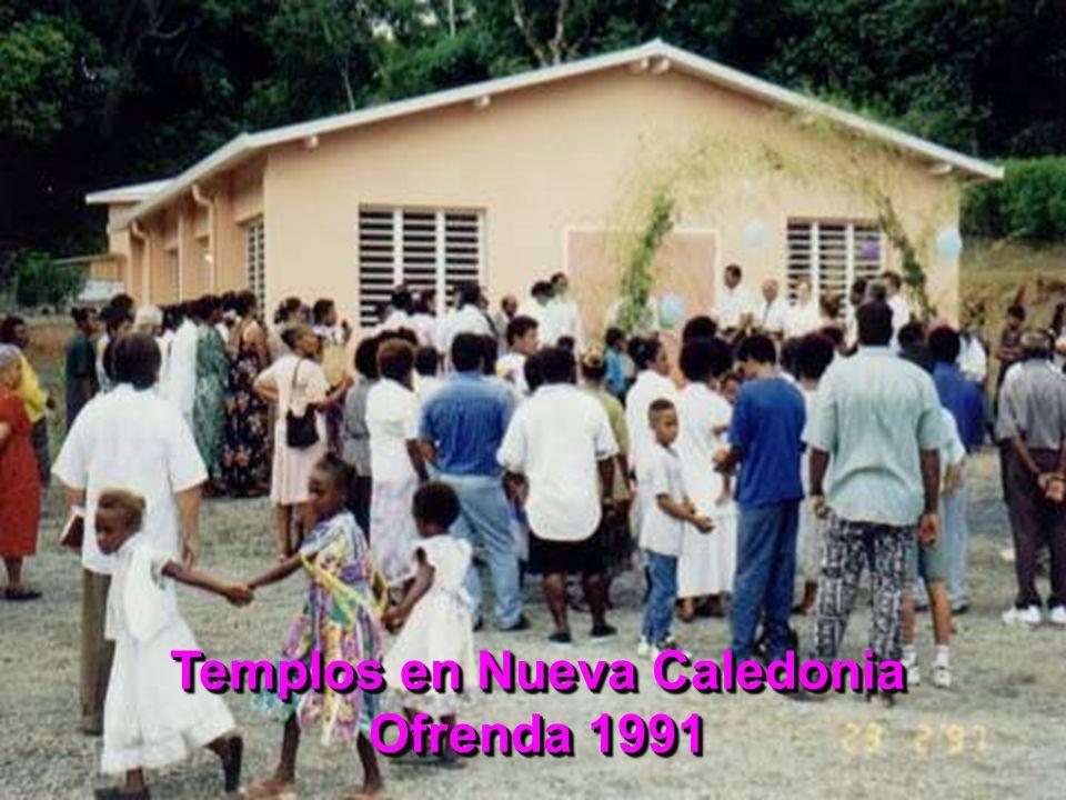 Templos en Nueva Caledonia Ofrenda 1991