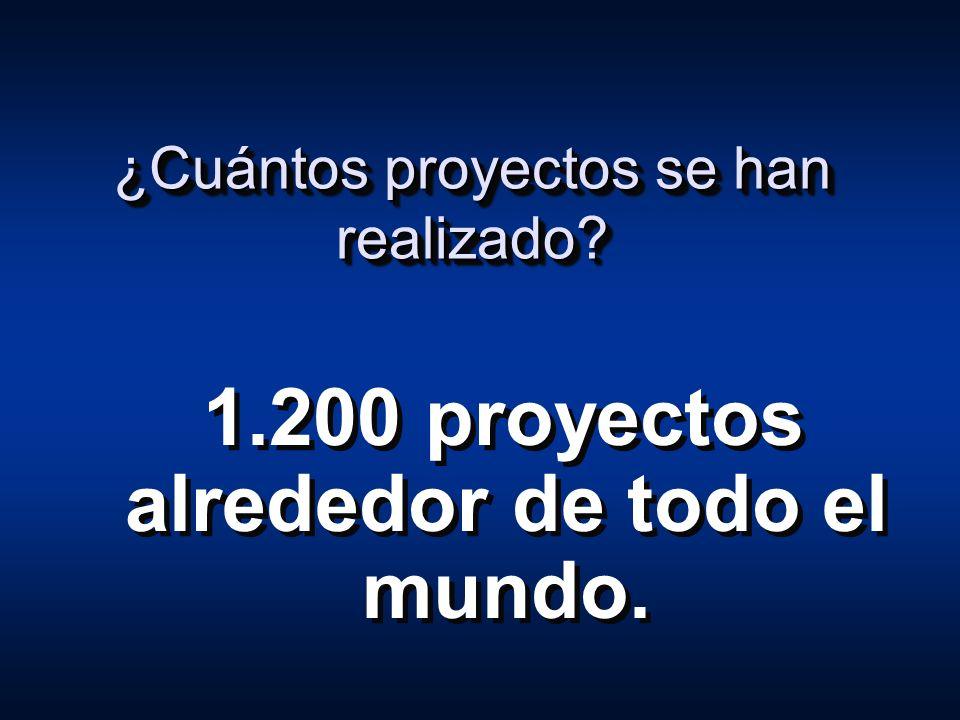 ¿Cuántos proyectos se han realizado? 1.200 proyectos alrededor de todo el mundo.