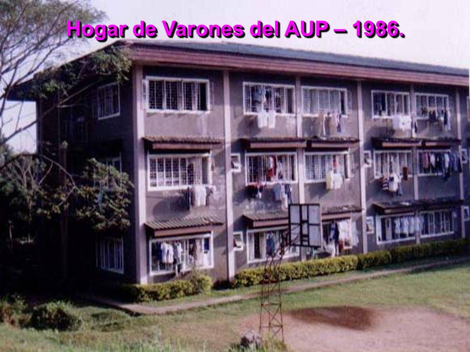 Hogar de Varones del AUP – 1986.