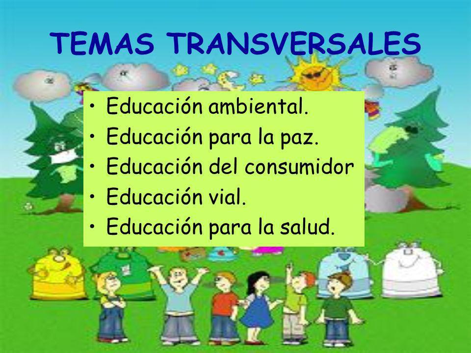 TEMAS TRANSVERSALES Educación ambiental.Educación para la paz.