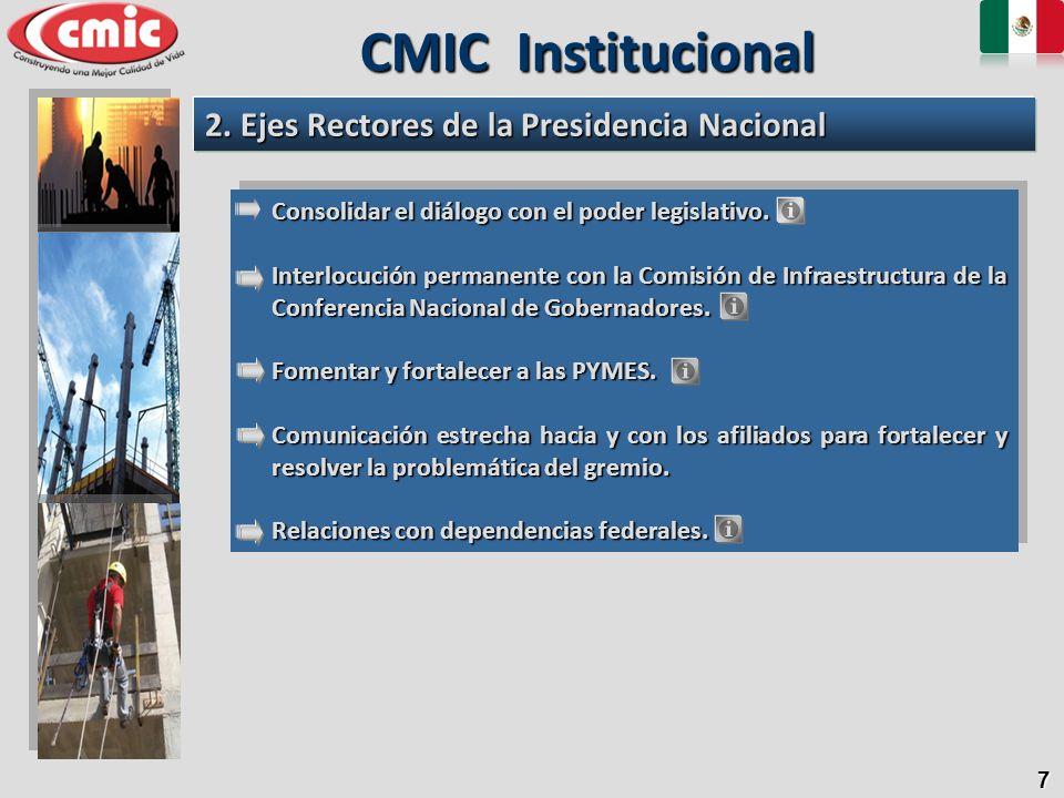 7 Consolidar el diálogo con el poder legislativo. Interlocución permanente con la Comisión de Infraestructura de la Conferencia Nacional de Gobernador