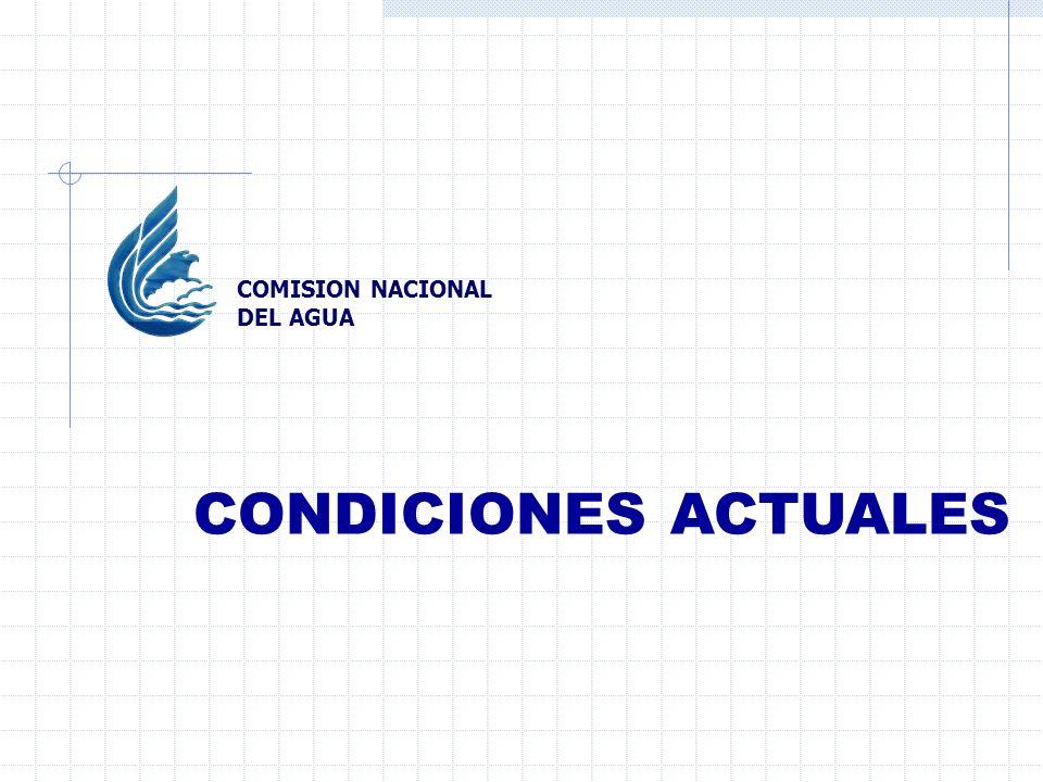 CONDICIONES ACTUALES COMISION NACIONAL DEL AGUA