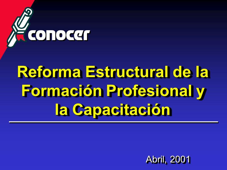 Reforma Estructural de la Formación Profesional y la Capacitación Abril, 2001